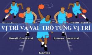 Các vị trí trong bóng rổ mà bạn cần nắm rõ